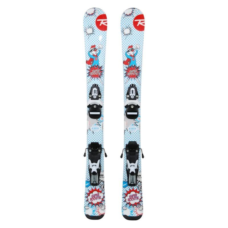 Ski occasion junior Rossignol Super Roostie + fixations - Qualité A