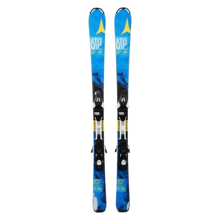 Ski occasion Junior Atomic Vantage Series bleu + fixations
