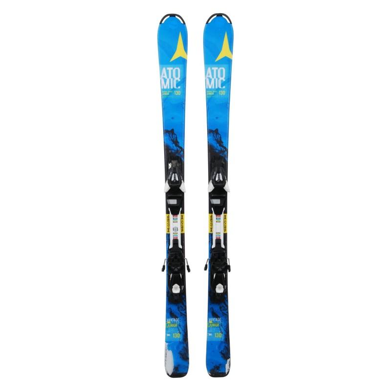 Ski occasion Junior Atomic Vantage Series bleu + fixations - Qualité C