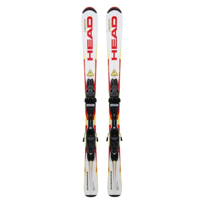 Ski occasion Head Team Supershape blanc/jaune/rouge + fixations