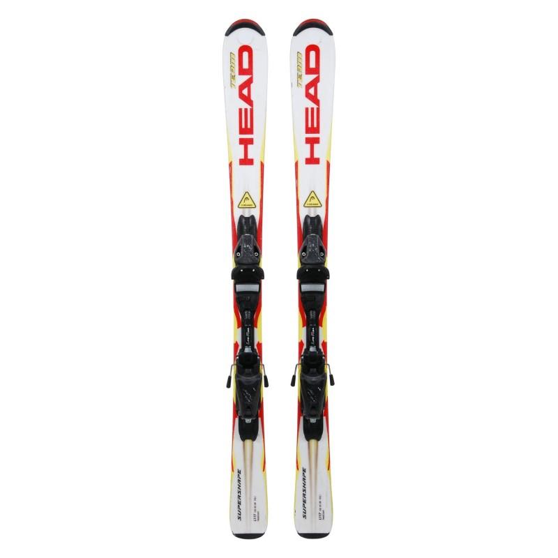 Ski occasion Head Team Supershape blanc/jaune/rouge + fixations - Qualité A
