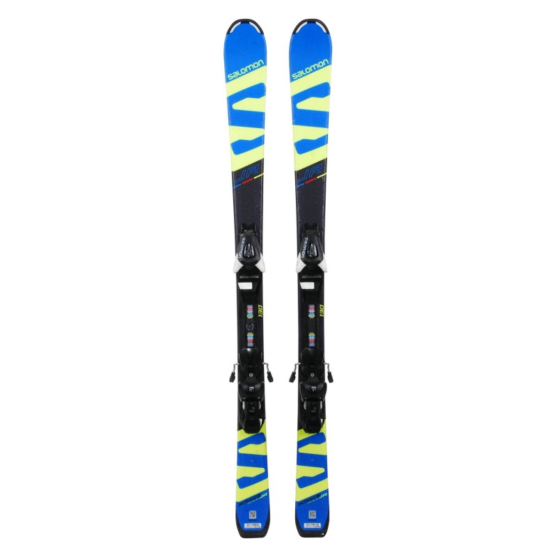 Ski occasion junior Salomon XRACE JR + fixations - Qualité A