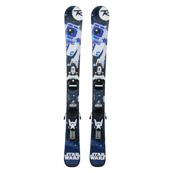 Gebrauchte Junior-Ski Rossignol Star Wars R2D2 + Befestigungen