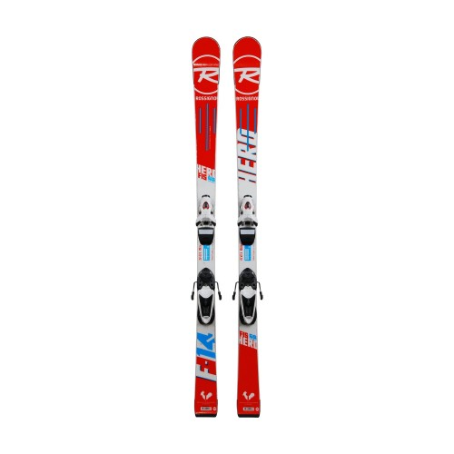 Ski occasion junior Rossignol hero FIS GS pro + fixations