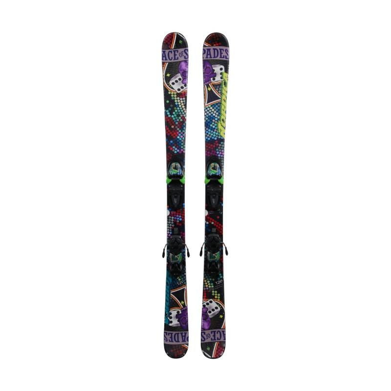 Ski occasion junior Nordica Ace of Spades + fixations - Qualité B