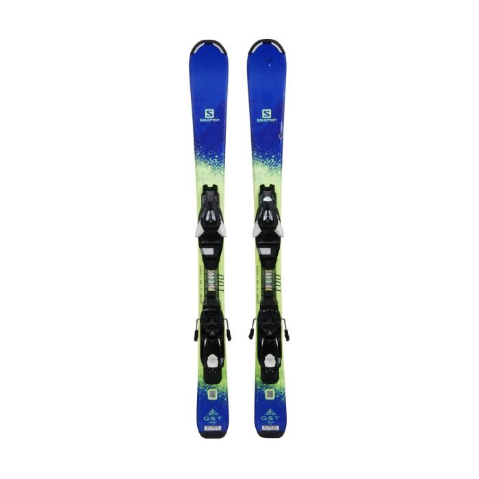 Gebrauchte Salomon Junior Skischuhe QST MAX + Befestigungen