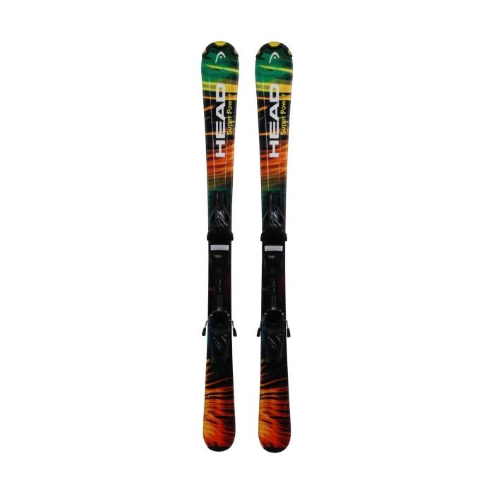 Gebrauchte Skier Junior Head Super Power + Befestigungen
