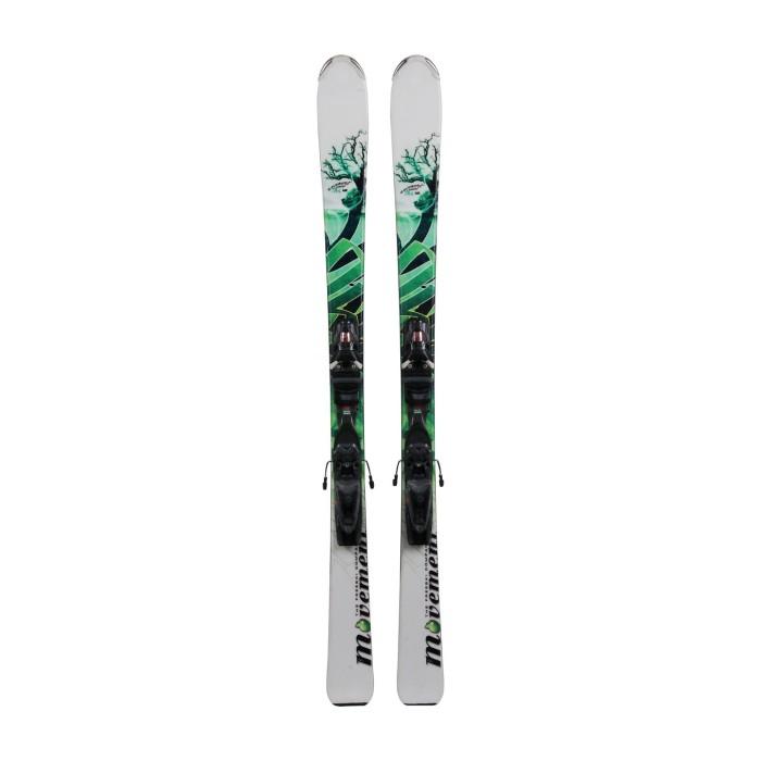 Gebrauchte Ski Movement Element Air weiß/grün + Befestigungen
