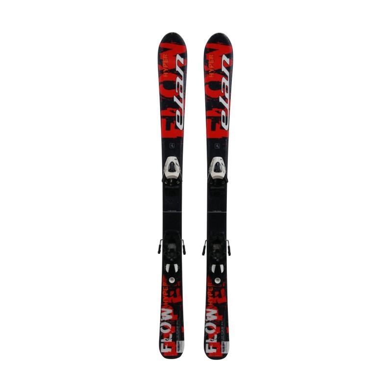 Ski occasion junior Elan Hyper Flow + fixations - Qualité A