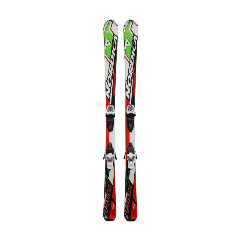 Ski occasion Junior Nordica Dobermann Spitfire + fixations - Qualité A