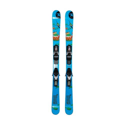 Ski occasion junior Rossignol Freestyle FS Grenouille + fixations