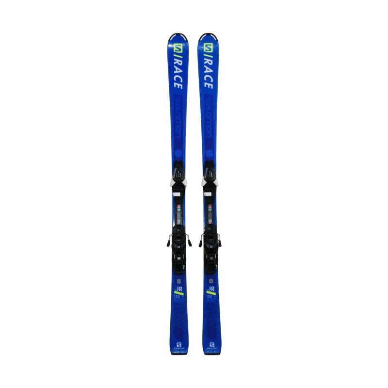 Ski occasion junior Salomon Race JR + fixations - Qualité A