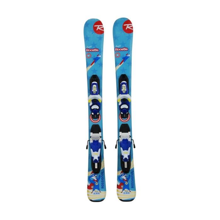Ski occasion junior Rossignol Super Roostie + fixations