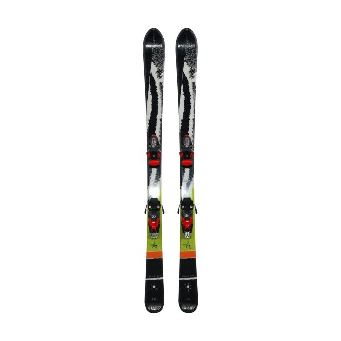 Gebrauchte Ski für Junior Pale Black Sun + Befestigungen