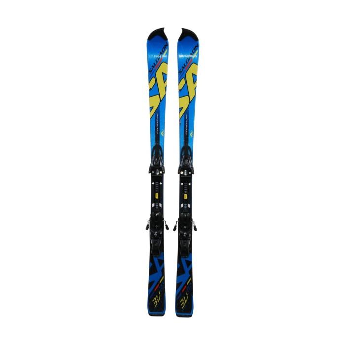 Ski junior opportunity Salomon 3V blue - bindings