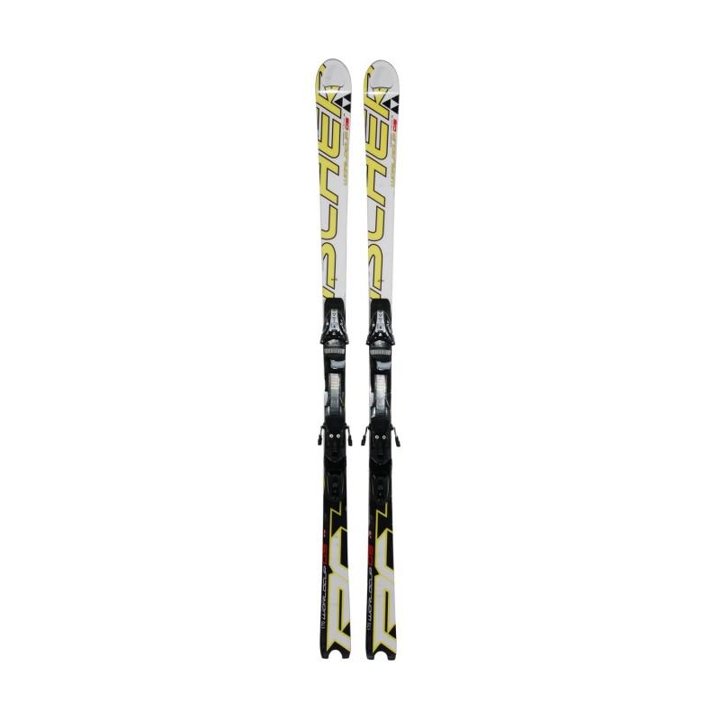 Ski occasion junior Fischer Worldcup GS + fixations - Qualité B