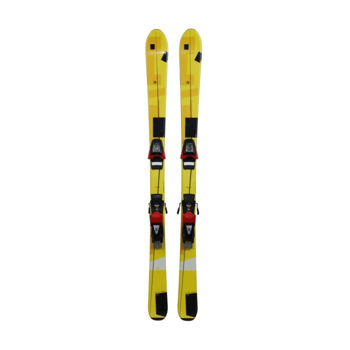 Ski occasion Junior Pale Wild Moon jaune noir + fixations