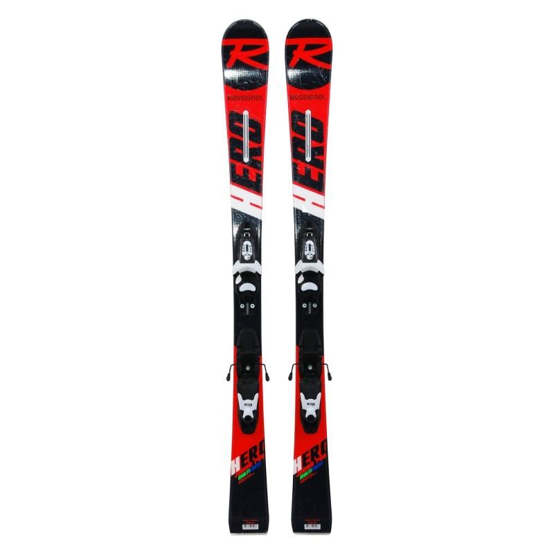 Ski occasion junior Rossignol hero Junior Pro Multi Event + fixations - Qualité A
