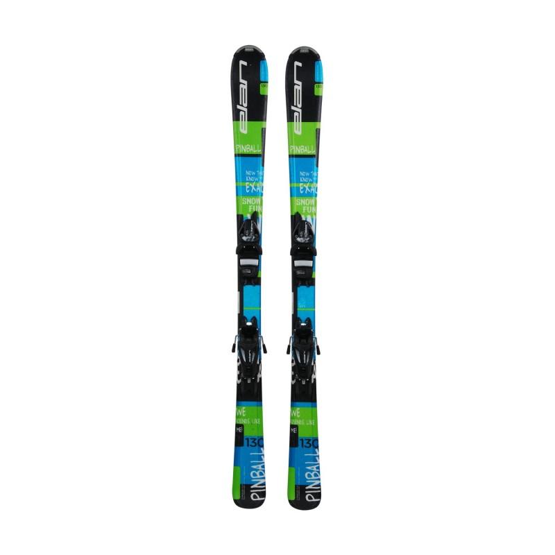 Ski occasion junior Elan Pinball + fixations - Qualité A