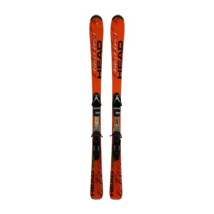 Esquí utilizado Head Big Easy naranja - fijaciones