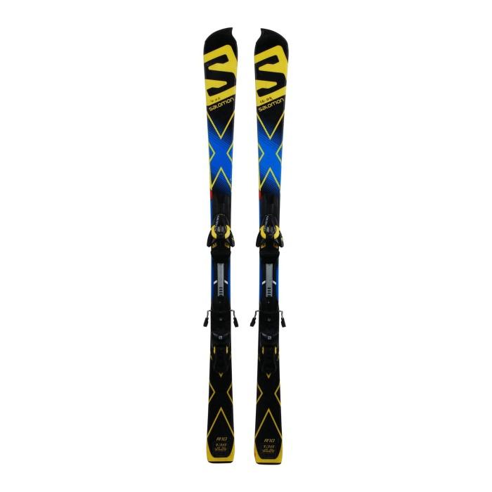Ski occasion junior Salomon X race SL + fixations