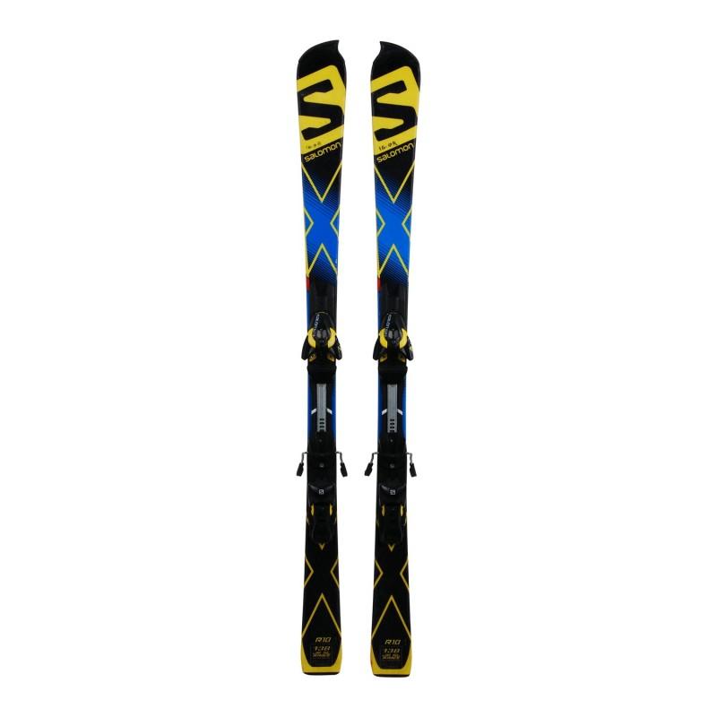Ski occasion junior Salomon X race SL + fixations - Qualité A