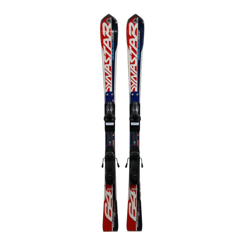 Ski occasion junior modèle Dynastar Omeglass comp 64 + fixations - Qualité B