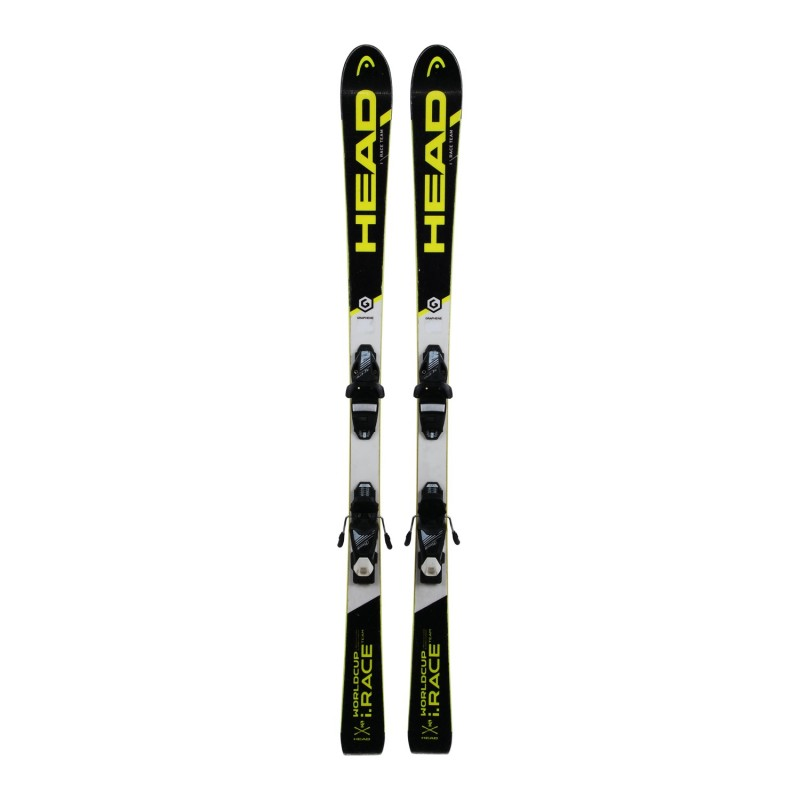 Ski occasion junior Head i.race team WC + fixations - Qualité A