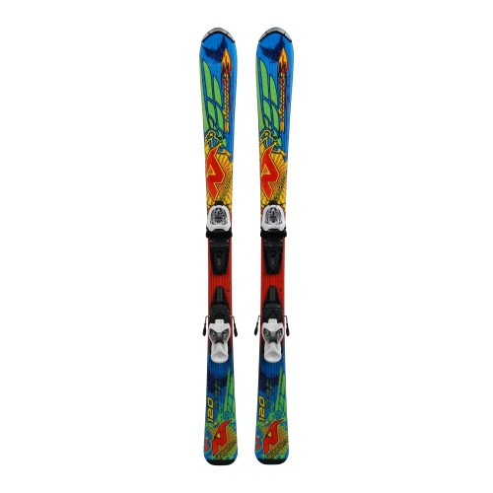 Gebrauchte Skifahren Junior Nordica Fire Arrow Team + Befestigungen