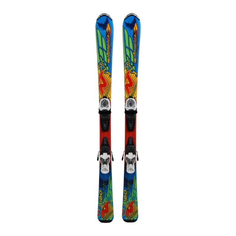 Ski occasion Junior Nordica Fire Arrow Team + fixations - Qualité A