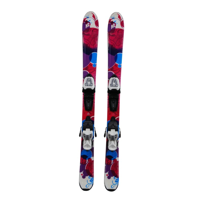 Ski occasion junior K2 Luv Bug + fixations - Qualité B