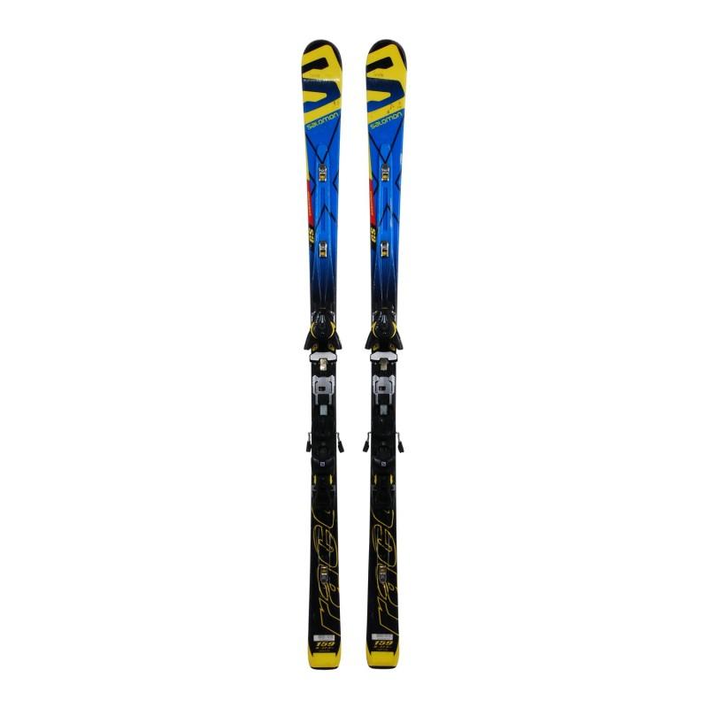 Ski occasion junior Salomon Equipe Race GS powerline + fixations - Qualité B