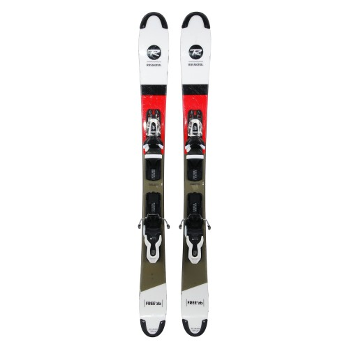 Mini ski occasion Rossignol Scratch Free'ZB + fixations