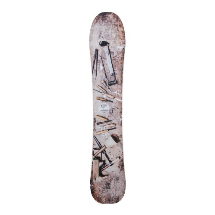 Snowboard-Anlass Nitro Woodcarver + Befestigung Schale
