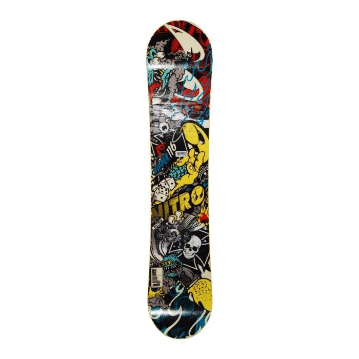 Snowboard occasion junior Nitro Ripper + fixation coque