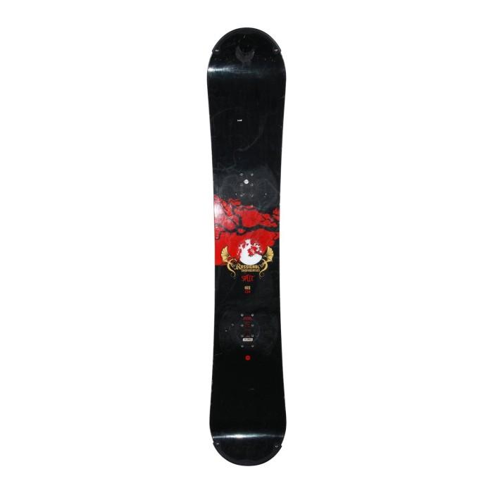 Snowboard occasion Rossignol Split + fixation coque