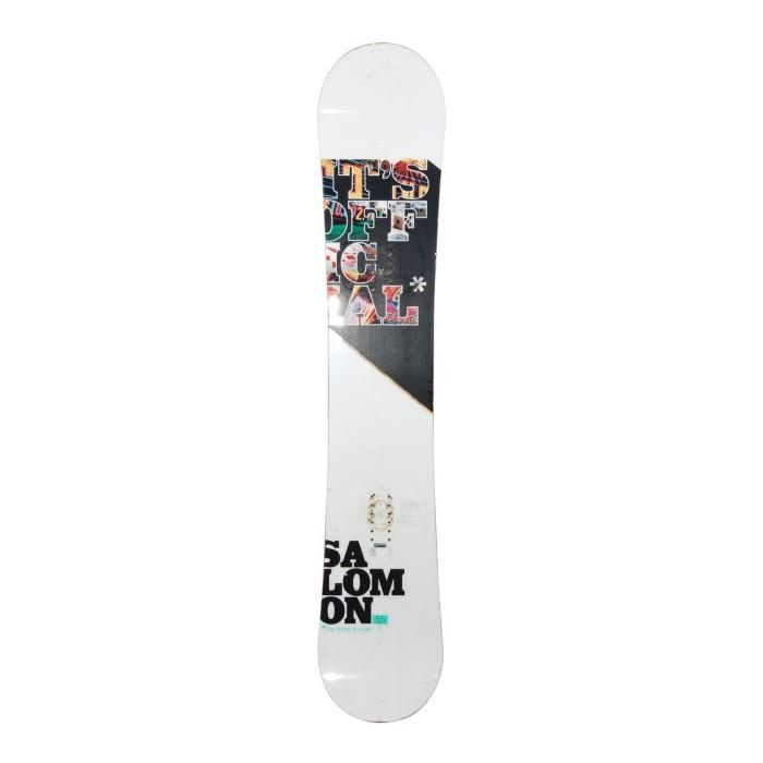 Snowboard-Anlass Salomon Official + Befestigung Schale