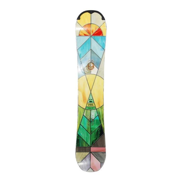 Snowboard yes emoticon + Befestigung Schale
