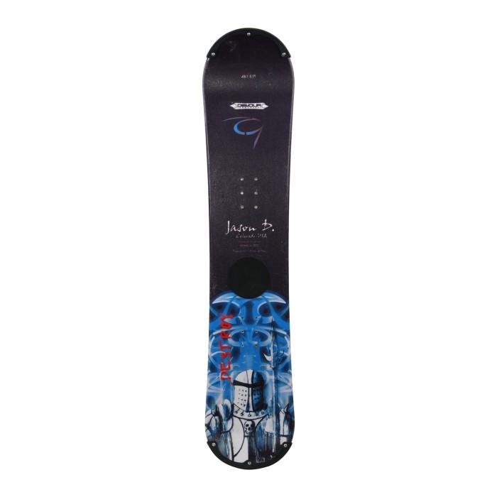Snowboard occasion junior Devour Jason Denali + fixation coque