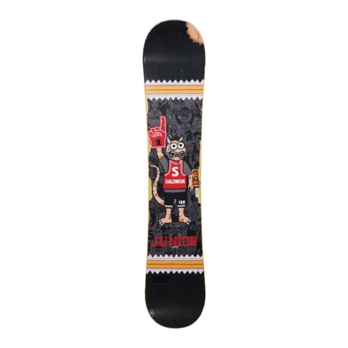 Snowboard occasion junior Salomon DSGNHA + fixation coque