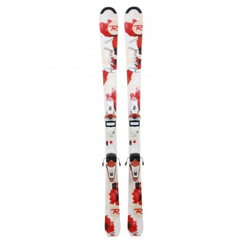 Ski occasion Rossignol Attraxion blanc rouge + fixations