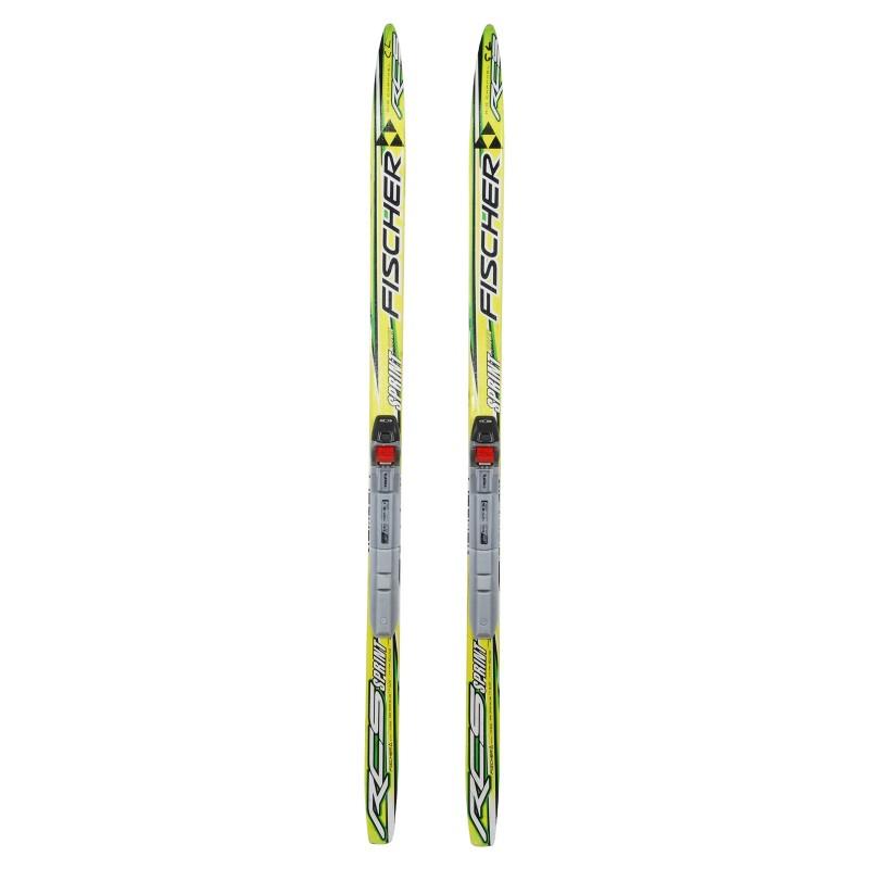Ski de fond occasion junior Fischer RCS Sprint Crown + fixation SNS profil - Qualité A