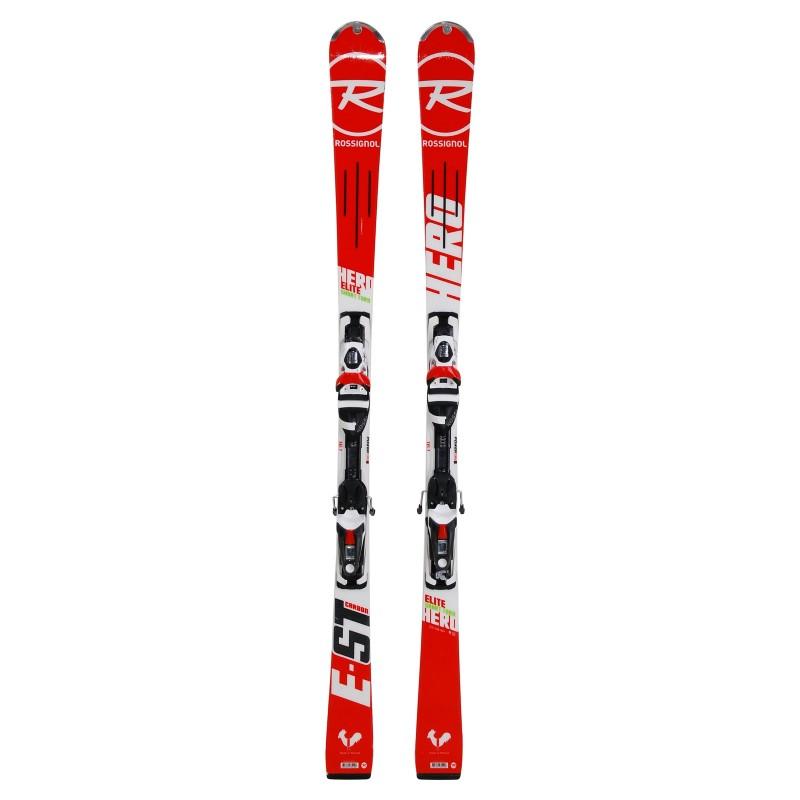 Ski Anlass Rossignol Hero Elite ST Carbon - Bindungen - Qualität A