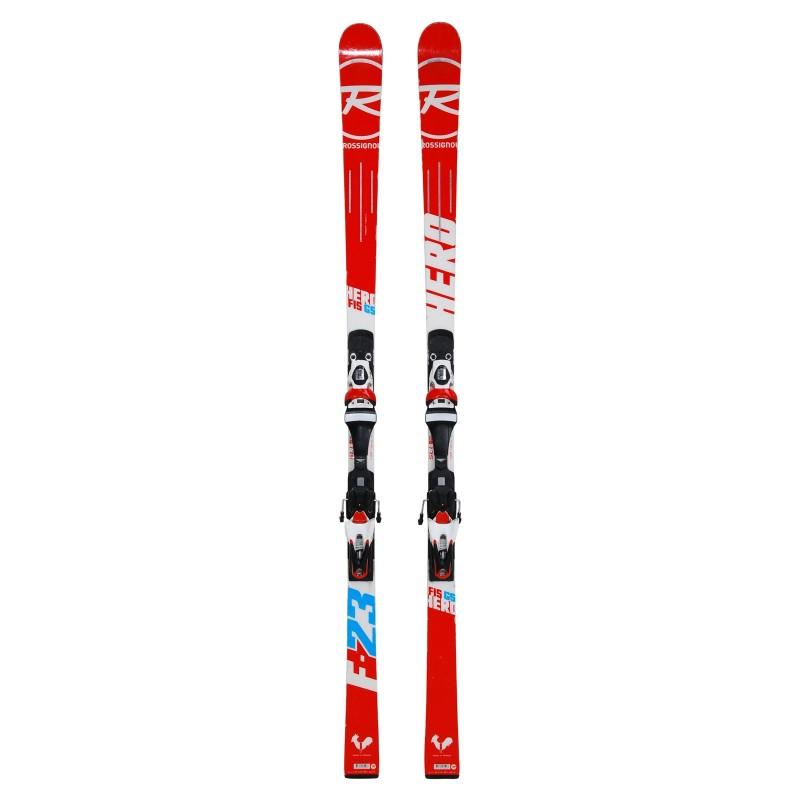 Ski used Rossignol Hero Elite GS fis - bindings - Quality B