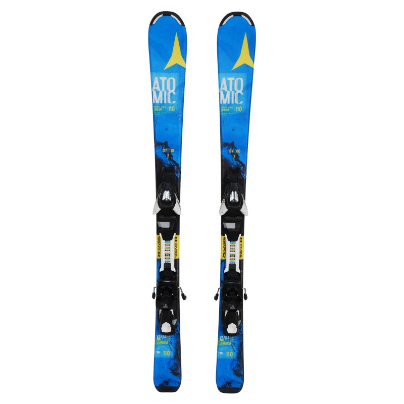 Ski occasion Junior Atomic Vantage Series bleu + fixations - Qualité A