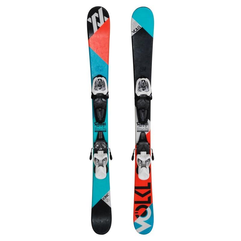 Ski occasion junior Volkl Kink Jr + fixations - Qualité A