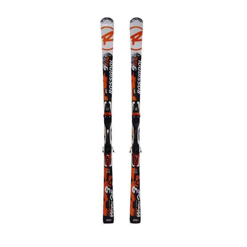 Rossignol Radical 8 GS World Cup snowboard white orange 2nd choice + Binding - Quality B
