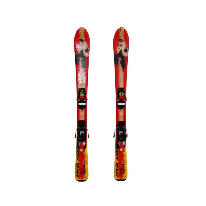 Junior used ski Volkl Power Mickey + bindings