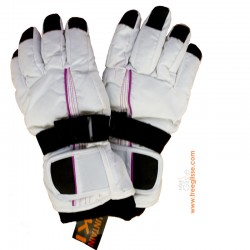 Gant ski Junior fille Mountain White/black (la paire)