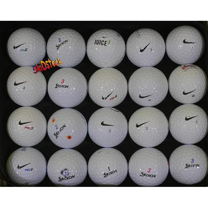 Lots de 20, 50 ou 100 Balles de golf occasion Birdie Brands qualité AAA